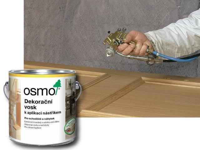 Vnitřní nátěry pro profesionály > OSMO Dekorační vosk k aplikaci stříkáním 10 l