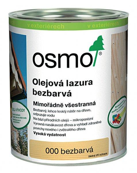 OSMO Olejová lazura bezbarvá > 000 OSMO olejová lazura bezbarvá 0,75 l