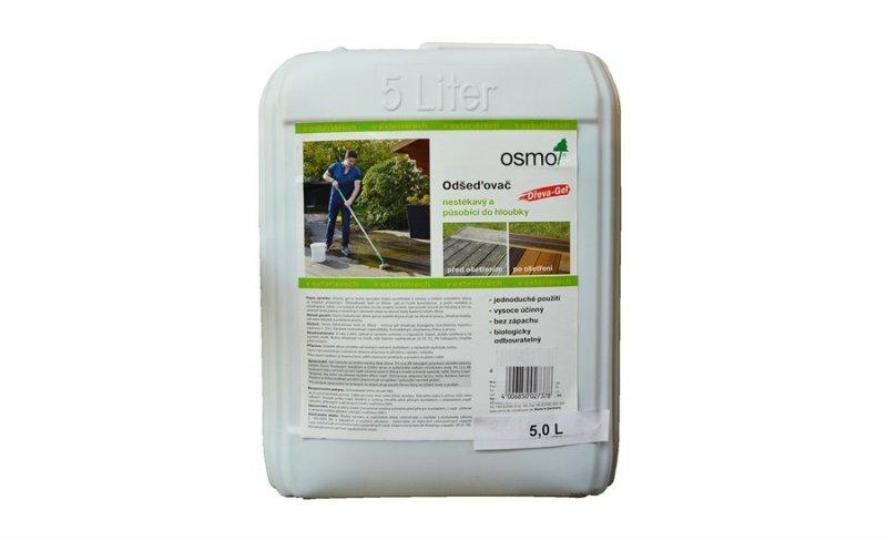 OSMO Údržba a ochrana dřeva - venkovní > OSMO Odšeďovač dřeva - GEL 6609 - vysoce účinné čištění a oživení zešedlého dřeva - 5 l