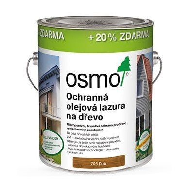 OSMO AKCE > OSMO Ochranná olejová lazura 706 DUB - 3L  DOPRAVA ZDARMA