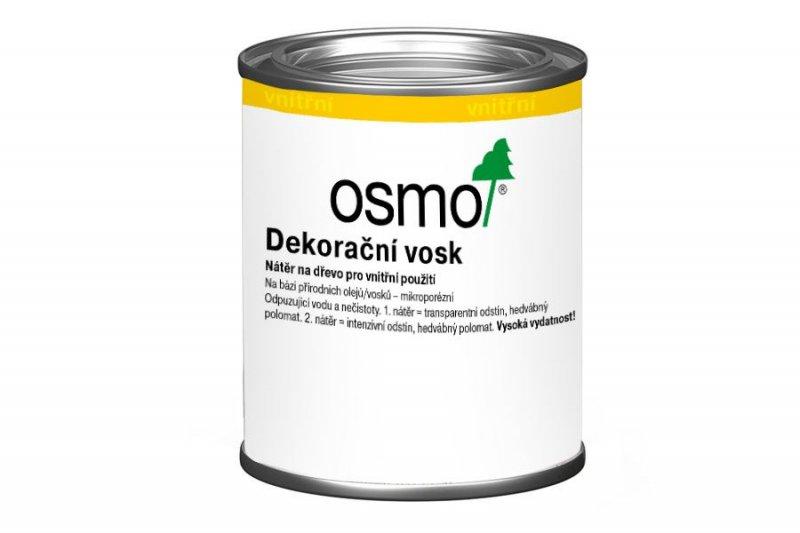 Vnitřní nátěry > OSMO Dekorační vosk transparentní 0,125 l