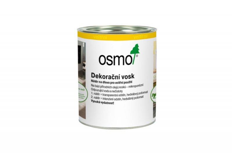 Vnitřní nátěry > OSMO Dekorační vosk transparentní 0,375 l